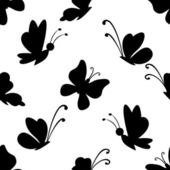 Background, butterflies silhouettes — Stock Vector