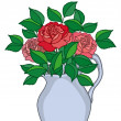 Stock Photo: Jug with roses