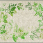 hojas, pintadas sobre lienzo — Foto de Stock