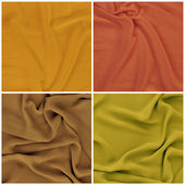 Draped fabric, set — Stock Photo