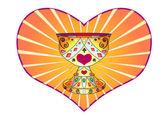 Holy Grail and heart — Vector de stock