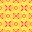 Stock Photo: Background, red pattern on yellow