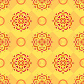 Background, red pattern on yellow — Stock Photo