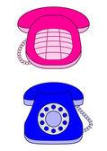 Desktop vintage telefoner — Stockfoto