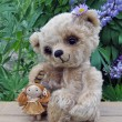 Teddy-bear Lucky with a rag doll - Stock Photo