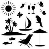 Summer objects — Stock Vector