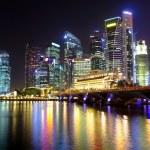 Singapore cityscape at night — Stock Photo #10076769