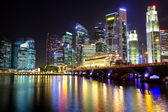 Singapore cityscape at night — Foto de Stock