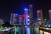 Singapore cityscape at night — Foto Stock