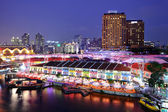 Singapore city at night — 图库照片