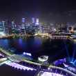 Singapore by night — Stockfoto