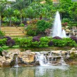 Park with pond and fountain — Stock Photo #10488190