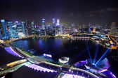 Singapore by night — ストック写真