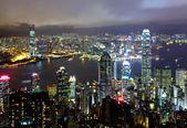 Hong Kong at night — Stockfoto