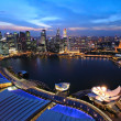 Stock Photo: Singapore cityscape at night