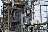 Edifício industrial, aço tubo — Foto Stock