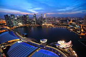 Singapore cityscape at night — Stock Photo