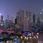 Building at night in Hong Kong — Stock Photo #8232303
