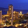 Stock Photo: Cement factory at night