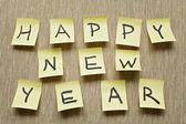 ステッカーに幸せな新年のメッセージ — ストック写真