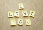 I Love You memo — Stock Photo