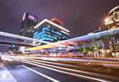Taipei city traffic at night — Stock Photo