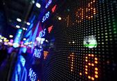 Stock market price display abstract — Stock Photo