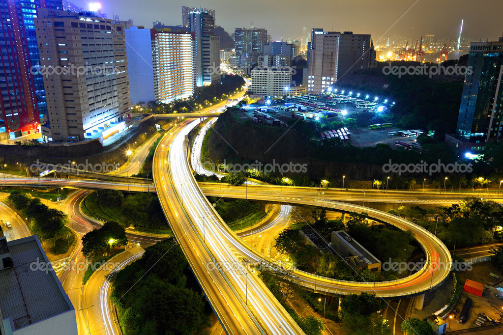 Highway in city at night — Stock Photo #8265271