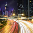 Light trails in mega city — Stock Photo #8329679