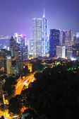 Hong kong city at night — Stock Photo