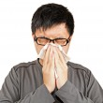 Sneeze man — Stock Photo #8368027