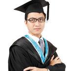 Young Asian man graduation — Stock Photo