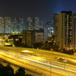 Stock Photo: Traffic and highway at night