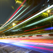Stock Photo: Light trails on highway