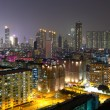 Apartment buildings at night — Stock Photo #8406692