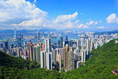Hong Kong view from peak — Stock Photo