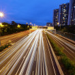 Light trails in mega city highway — Stock Photo #8491104