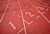 Retro sport running track — Stock Photo
