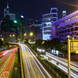 Traffic in downtown at night — Stock Photo #8579904