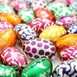 Colorful easter egg background — Stock Photo #8580573