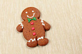 Gingerbread man for christmas — Stock Photo