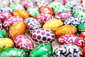 Colorful easter egg background — Stock Photo