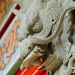Dragon statue in temple — Stock Photo