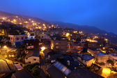 Chiu fen village at night, in Taiwan — Stock Photo