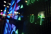 Stock market price display abstract — Stock Photo