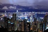 Hong kong město pohled z vrcholu — Stock fotografie