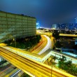 Traffic and highway at night — Stock Photo