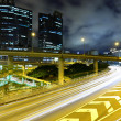 Traffic on highway in urban at night — Stock Photo