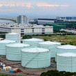 Stock Photo: Oil tanks