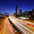 Traffic on highway in urban at night — Stock Photo #8910783